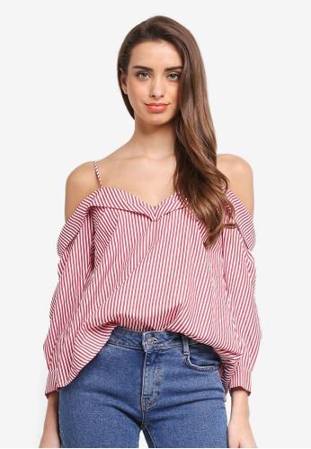 Bardot red Paloma Stripe Top BA332AA0ST85MY_1