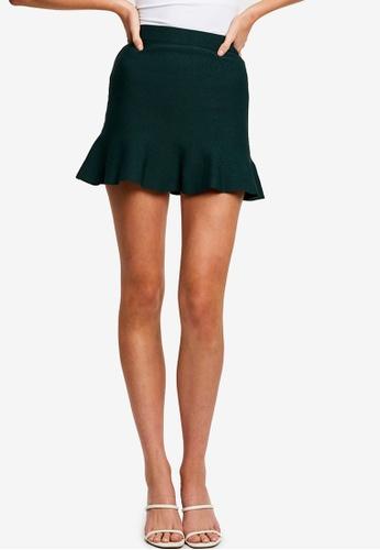 Tussah green Lidia Mini Skirt E4D0CAAB4A47EAGS_1