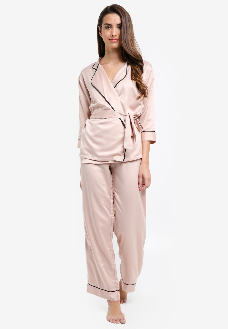 Trousers Rose Set Dust Kimono Wren Bluebella and 4PgPF
