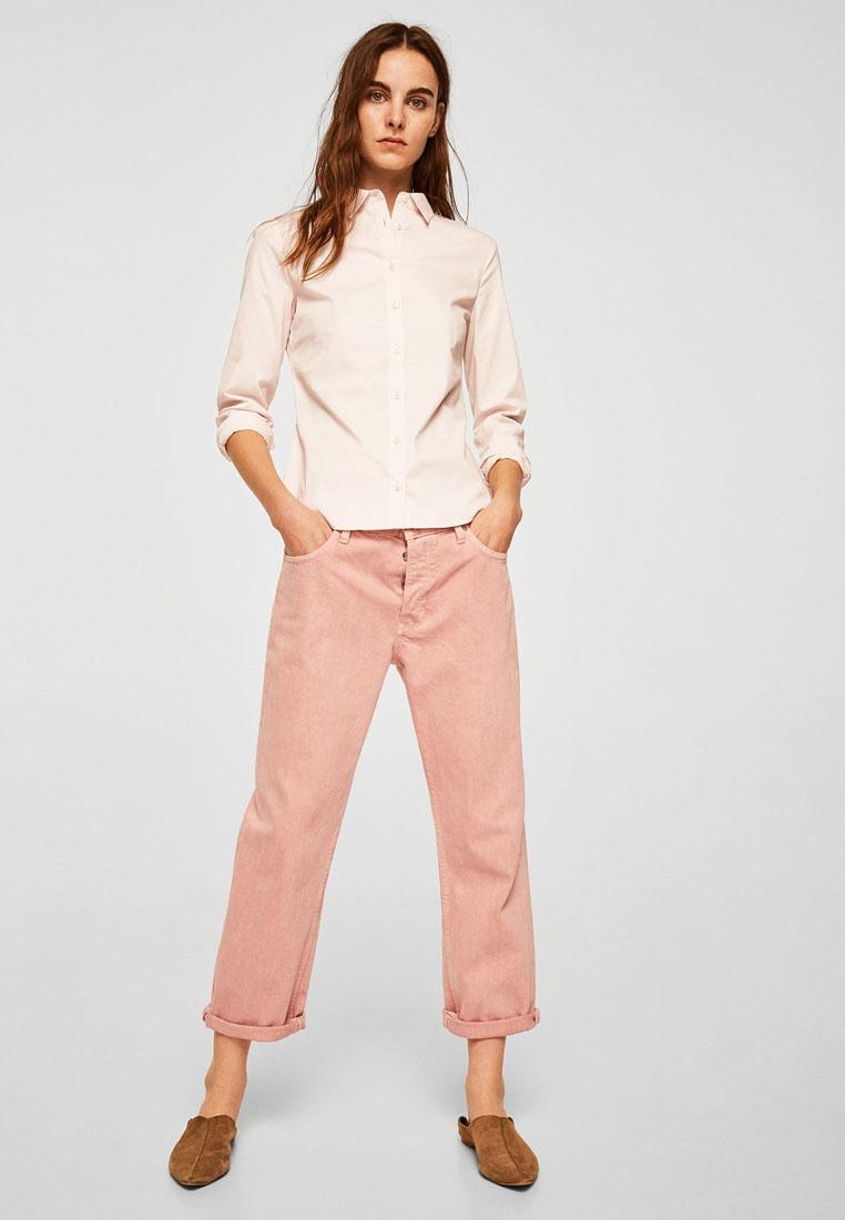 Essential Shirt Pink Blend Mango Cotton OTS8OY