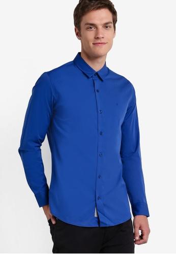 Calvin Klein blue Wilbert Long Sleeve Shirt - Calvin Klein Jeans CA221AA25DDYMY_1