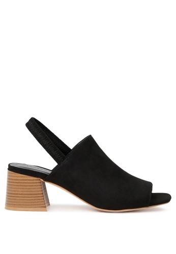 London Rag black Sabella Slingback Peep Toe Sandal SH-1667 2DA7FSH026F853GS_1