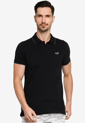 Hollister black Musclefit Polo Shirt 5EBFDAA4C1D5D1GS_1