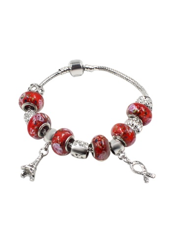 Venice Jewelry red and silver Venice CB-0014 VE564AC49GREPH_1