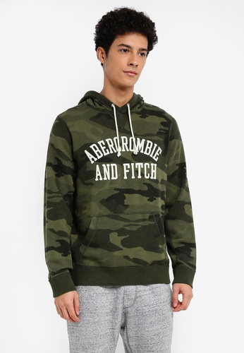 Abercrombie & Fitch green Core Logo Pop Pullover 9C3DCAAF127642GS_1