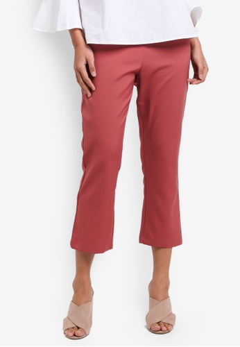 Something Borrowed green Cropped Kick Flare Pants B5A11AA6D91409GS_1