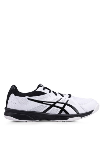 Asics white Upcourt 3 Shoes E6FC4SH376534AGS_1