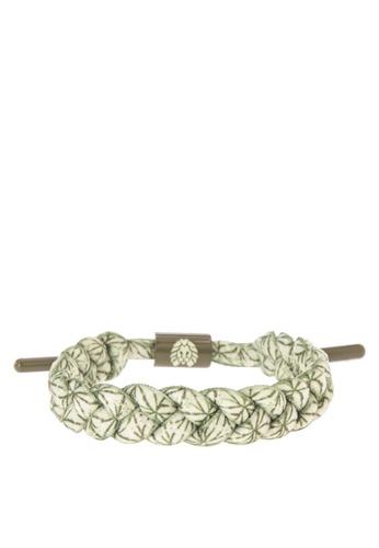 Rastaclat green Shoelace Bracelet: Moki RA072AC0JYOWPH_1