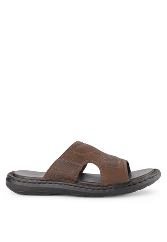 Hush Puppies brown Gollaf Iii Slide 88D94SHEA497A6GS_1