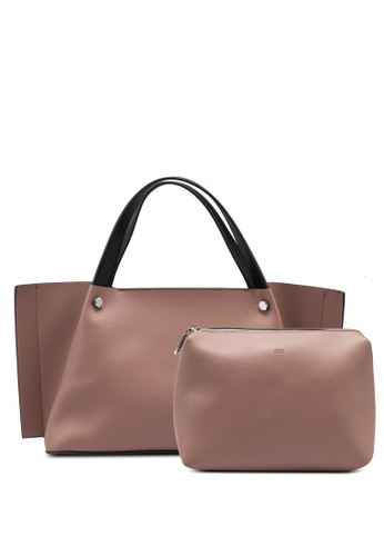 nose brown Two Tone Shoulder Bag EE2F3AC72E2093GS_1