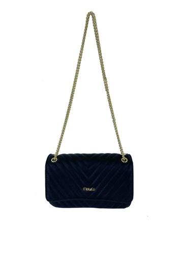 Mel&Co black Faux Leather Sling Bag 38979ACDD2A71DGS_1