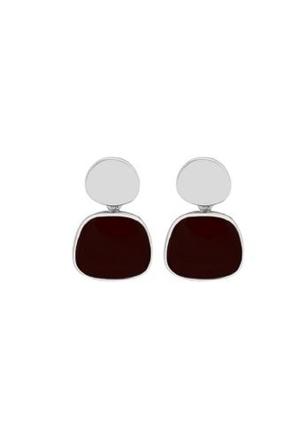 LYCKA red LDR1262 S925 Silver Elegant Morandy Stud Earrings EB9E7ACAF64FABGS_1