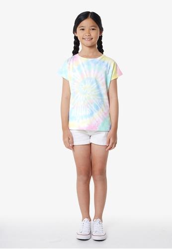 Gen Woo multi Pastel Spiral Tie Dye T-Shirt E5913KA142E815GS_1