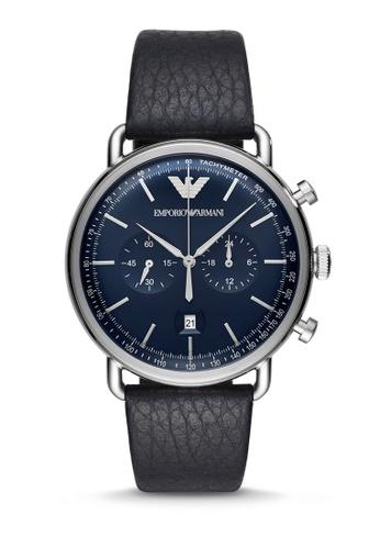 ARMANI blue Aviator Chronograph Watch AR11105 FEF76AC70E3710GS_1