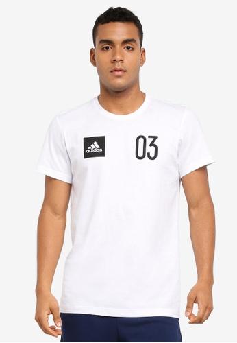 adidas white adidas stadium tee AD372AA0SUMEMY_1
