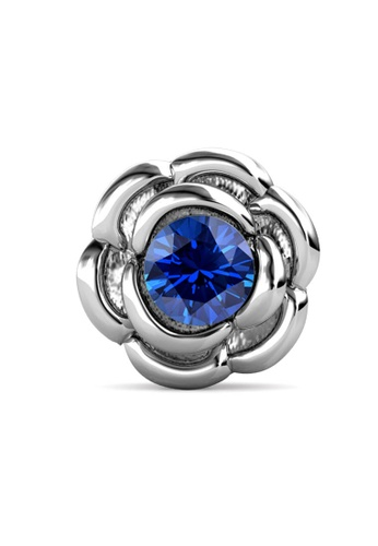 Her Jewellery silver Petunia Brooch (September, White Gold)-  Made with premium grade crystals from Austria 5D326ACB354B5FGS_1