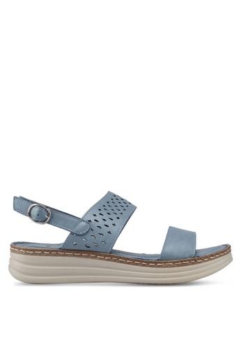 BETSY 藍色 雕紋涼鞋 7921FSHF697FAFGS_1