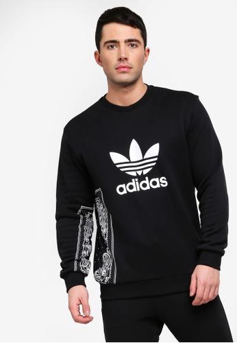 1d7e5d87 adidas black adidas originals bandana crewneck sweatshirt FB8FFAA2ECFAEBGS_1