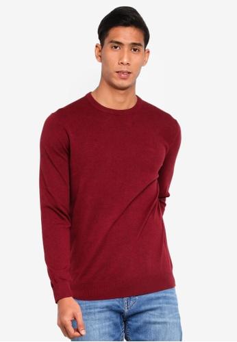 ESPRIT 紅色 針織衫 DA098AA62A0A39GS_1