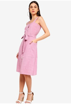 9613440cd71 30% OFF ZALORA Button Down Midi Dress S  39.90 NOW S  27.90 Sizes XS S M L  XL