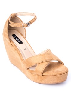 Lexa Crossover Ankle Strap Wedge