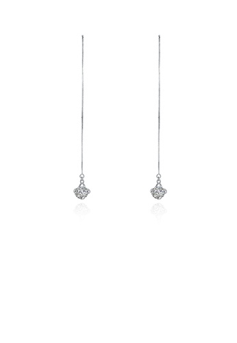 Glamorousky white 925 Sterling Silver Sparkling Simple Fashion Long Tassel Earrings and Ear Wire with Whit Cubic Zircon C7B2FAC4C8AF1CGS_1