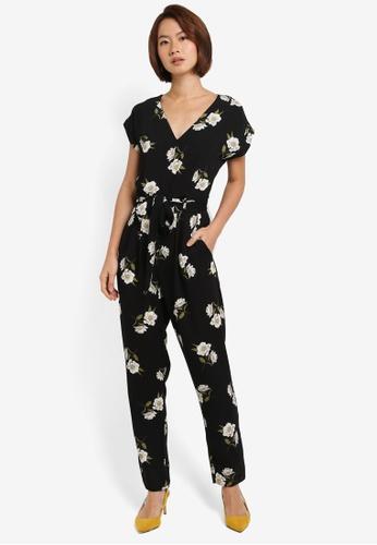 Dorothy Perkins black Black Daisy Jumpsuit 407A4AA9C42A98GS_1