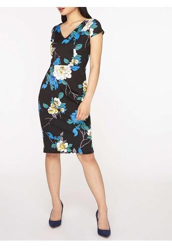 Dorothy Perkins navy Petite Twilight Scuba Dress DO101AA0JWNJPH_1