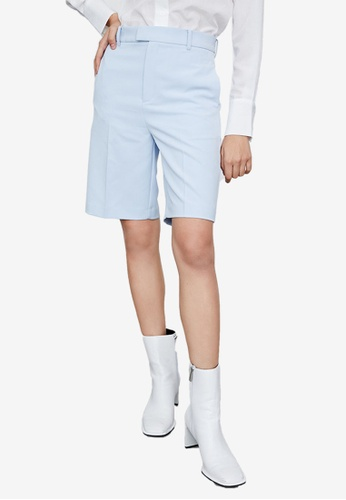URBAN REVIVO blue Casual Shorts 431CCAA7C632D3GS_1