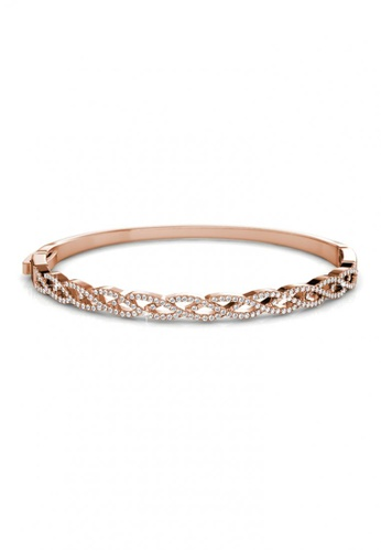 Her Jewellery gold Her Jewellery Braided Bangle (Rose Gold) with Premium Grade Crystals from Austria 31C38ACD6A305BGS_1