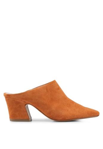 Mango orange Leather Heel Mules 288D2SH6A72A83GS_1