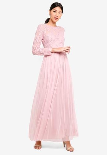 Little Mistress pink Pink Embrod Maxi Dress 20699AA9A04B50GS_1