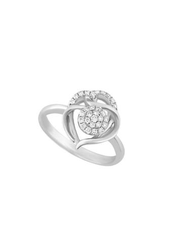 TOMEI white TOMEI Marquetry of Glamorous Sparkles Ring, Diamond White Gold 375 (R3968) Size 13 2E44BACB0CEA12GS_1