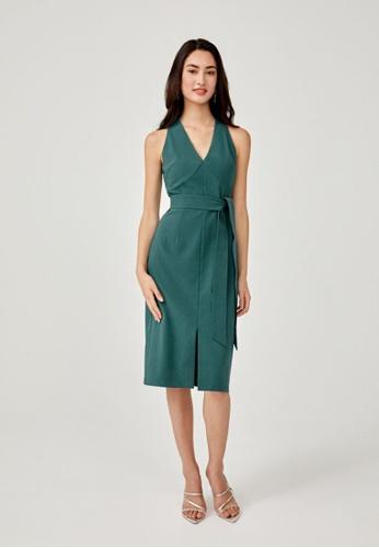 Love, Bonito green Lethe Sash Tie Bodycon Dress 04376AABC87AA0GS_1
