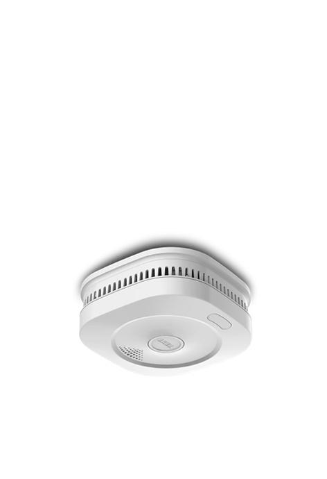 Alrisun 智能煙霧感應器(10年感應電池+3年可換鋰電池)內置WiFi無線天線, 煙霧報警器消防火災燶煙傳感器探測器檢測器無線安裝電池量通知APP遠程監控發出警報智能聯動物聯網防火保家居安全(LZ-1956I)