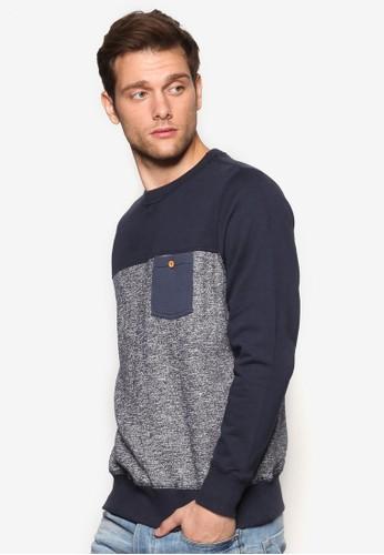 Posh 色塊口袋長袖衫, 服飾esprit investor relations, 服飾