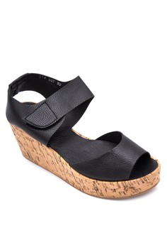Peep-Toe Wedge with Ankle Strap