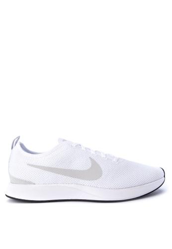 Nike white Men's Nike Dualtone Racer Shoes NI126SH0STSYMY_1