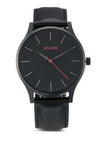 MVMT black MVMT 40 Series Watch - 40 Black Leather MV187AC0SZR5MY_1