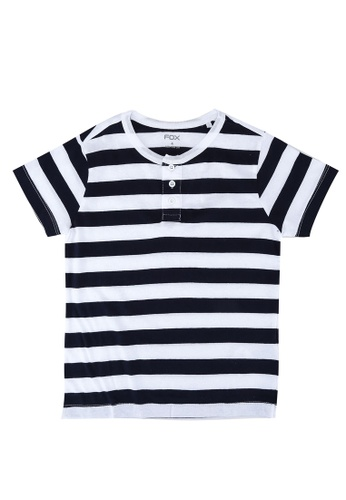 FOX Kids & Baby navy Striped T-Shirt C279FKA6612CCFGS_1