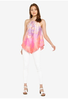 d759cab5442f99 River Island Kylie Palm Halter Top S$ 54.90. Available in several sizes