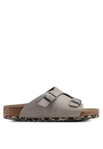 Birkenstock grey Zurich Desert Soil Camou Soft Footbed Sandals B4DBDSH880129BGS_1