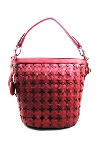 Kimbel International red HGZ27620 Handbag with Sling KI262AC0J9XMPH_1