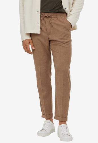 H&M beige Slim Fit Joggers 87D1AAAB3FB55EGS_1