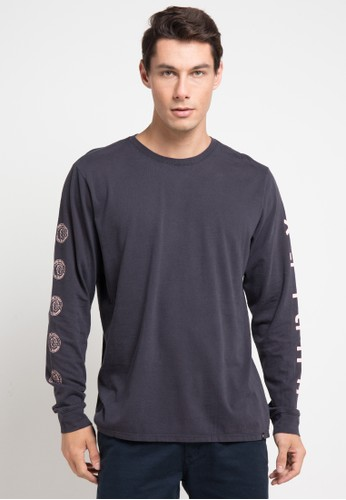 hurley black Hvy Cool Smr Long Sleeve T-Shirt 1D6A5AA09D935AGS_1