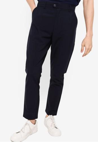 ZALORA BASICS navy Slim Trousers D9926AA218AB52GS_1