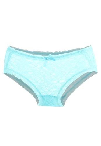LAVABRA Intimates blue Very Sexy Panty - Juliana Sexy Allover Lace Cheekini LA387US39EOUID_1