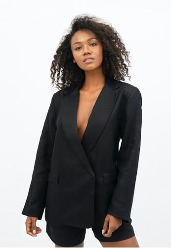 1 PEOPLE black Havana HAV - Oversized Blazer - Licorice 13007AA1E0B759GS_1