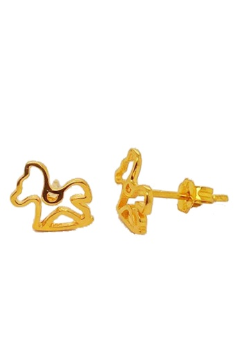 LITZ gold LITZ 916 (22K) Gold Rocking Horse Earrings 0A4C2ACBAC9D9AGS_1