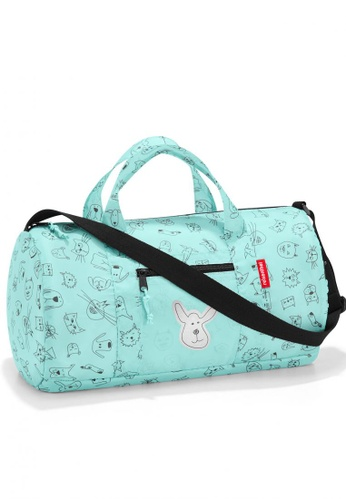 Reisenthel Mini Maxi Dufflebag S Kids Cats & Dogs Mint 980A4KC721C293GS_1